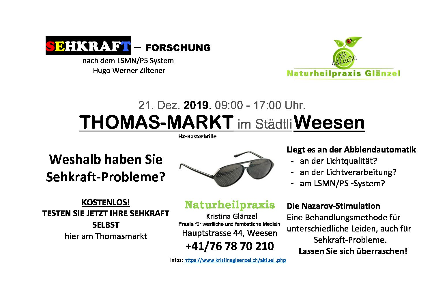 Thomas-Markt Weesen am 21. Dezember 2019